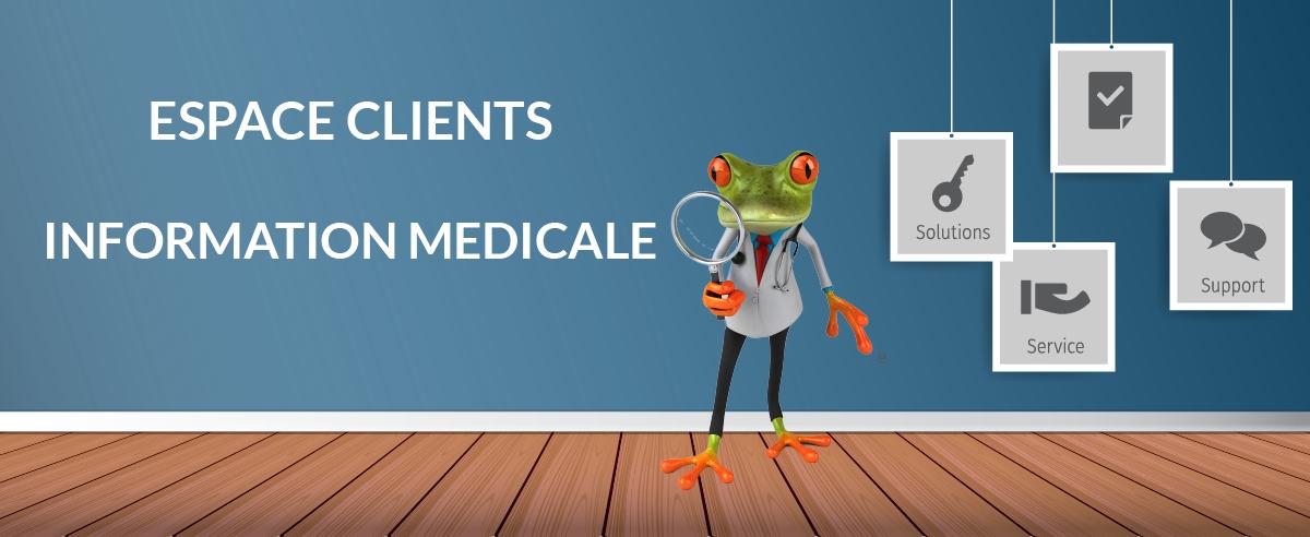 espace clients en information medicale